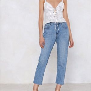 Nastygal Put An End to It Mom Jeans size 4